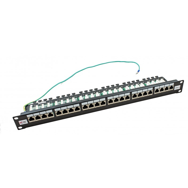 24 port shielded cat5e rj45 patch panel