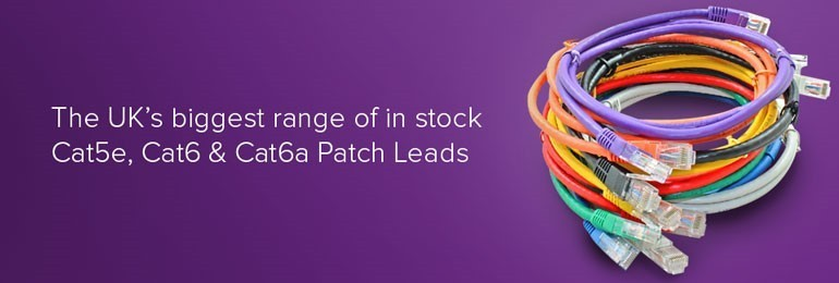 Cat5e, Cat6 and Cat6a Patch leads in stock