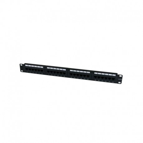 24 Port 1U Rackmount Cat 6 110 Patch Panel