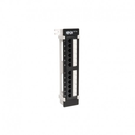 12-Port Wall-Mount Cat5e Patch Panel, 568B, RJ45 Ethernet