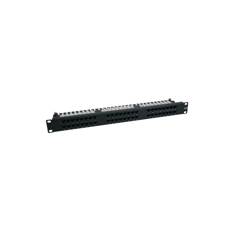 48-Port 1U Rack-Mount Cat6 High Density 110 Patch Panel, 568B, RJ45 Ethernet
