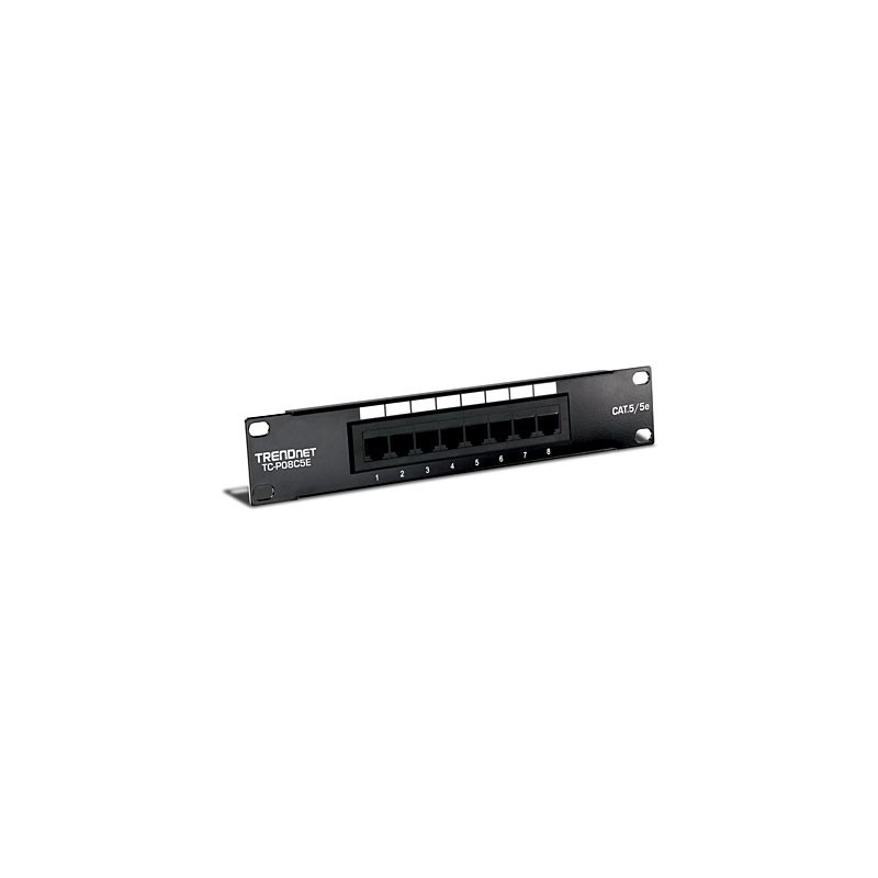 "Trendnet 8 Port Cat5e UTP 10"" SoHo Patch Panel"