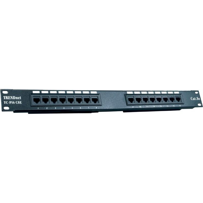 Trendnet 16 Port Cat5e UTP RJ45 Patch Panel