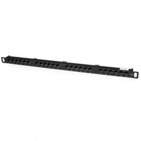 24 Port 0.5u Cat5e RJ45 Patch Panel