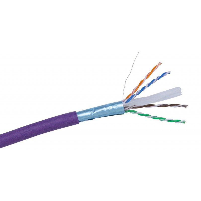 Cat6 FTP Shielded PVC Solid Core Cable