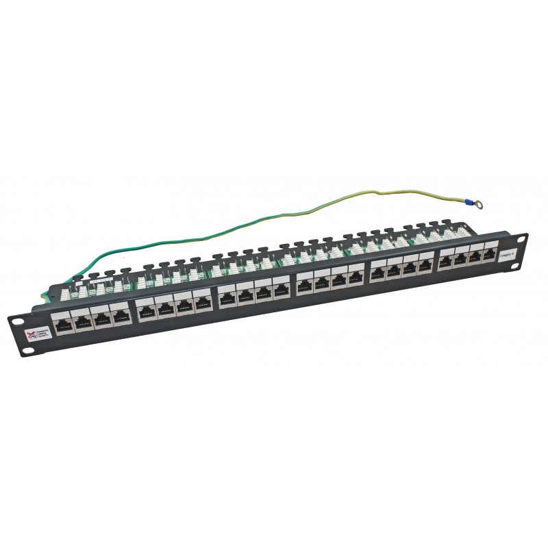 24 Port Shielded Cat6 RJ45 Patch Panel